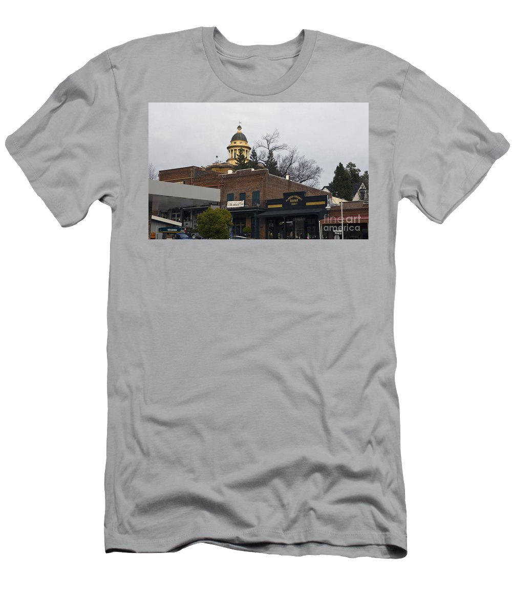 Travel Men's T-Shirt (Athletic Fit) featuring the photograph Downtown Auburn California by Jason O Watson