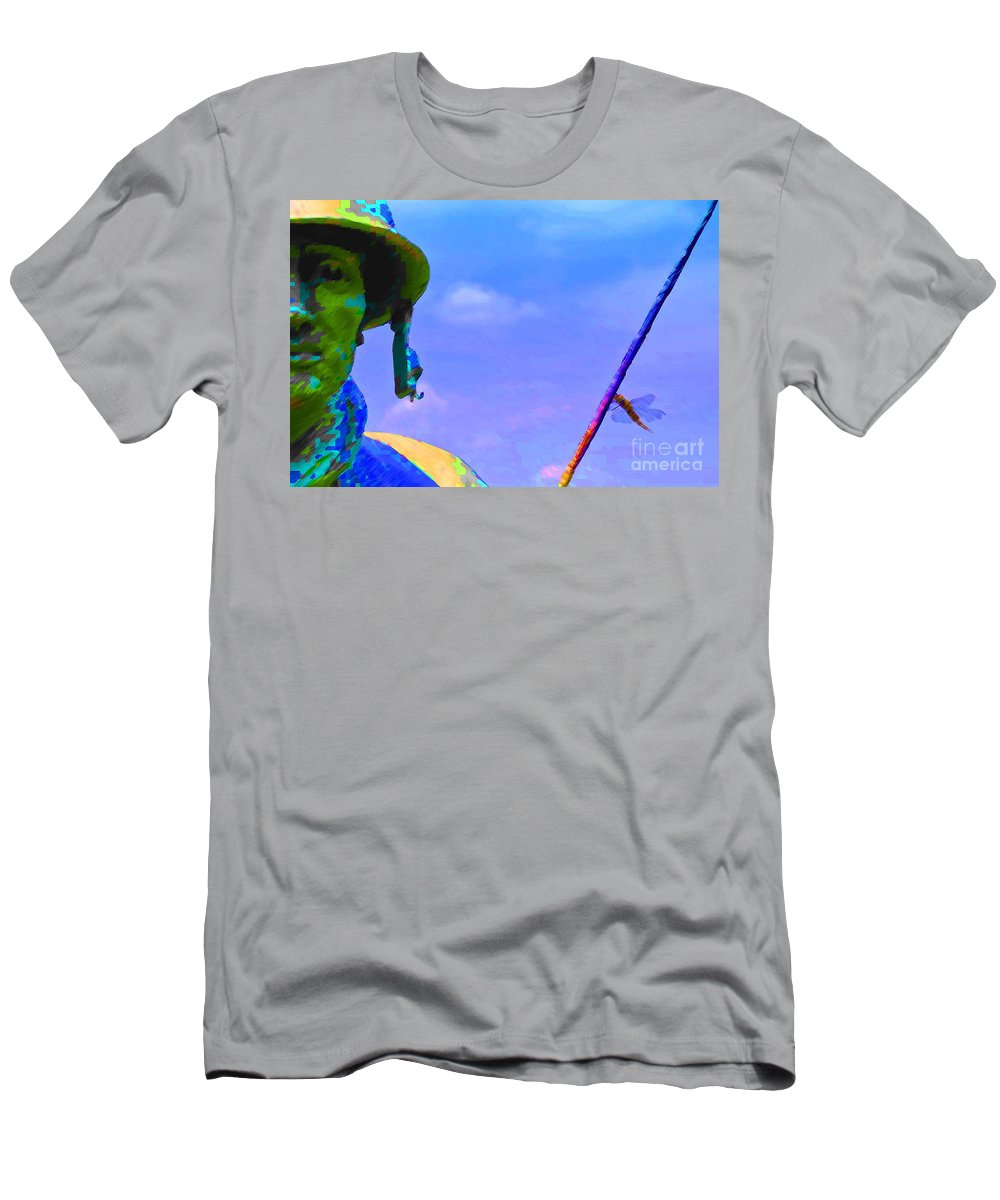 Dragon. Fly Men's T-Shirt (Athletic Fit) featuring the photograph Dragonfly Soldier by Jost Houk