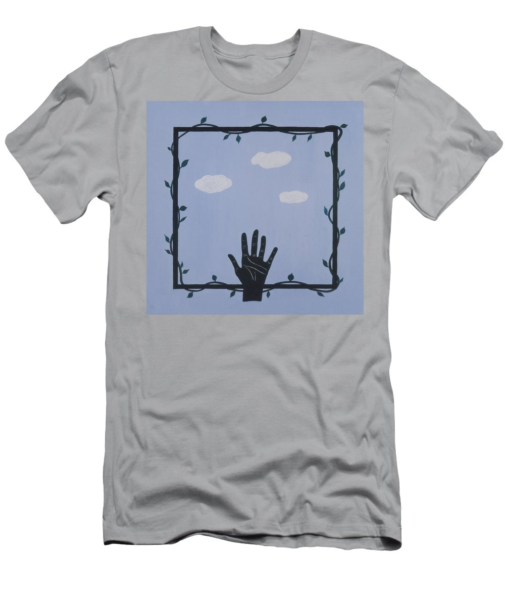 Meditation Men's T-Shirt (Athletic Fit) featuring the painting Dream by Elle Nicolai