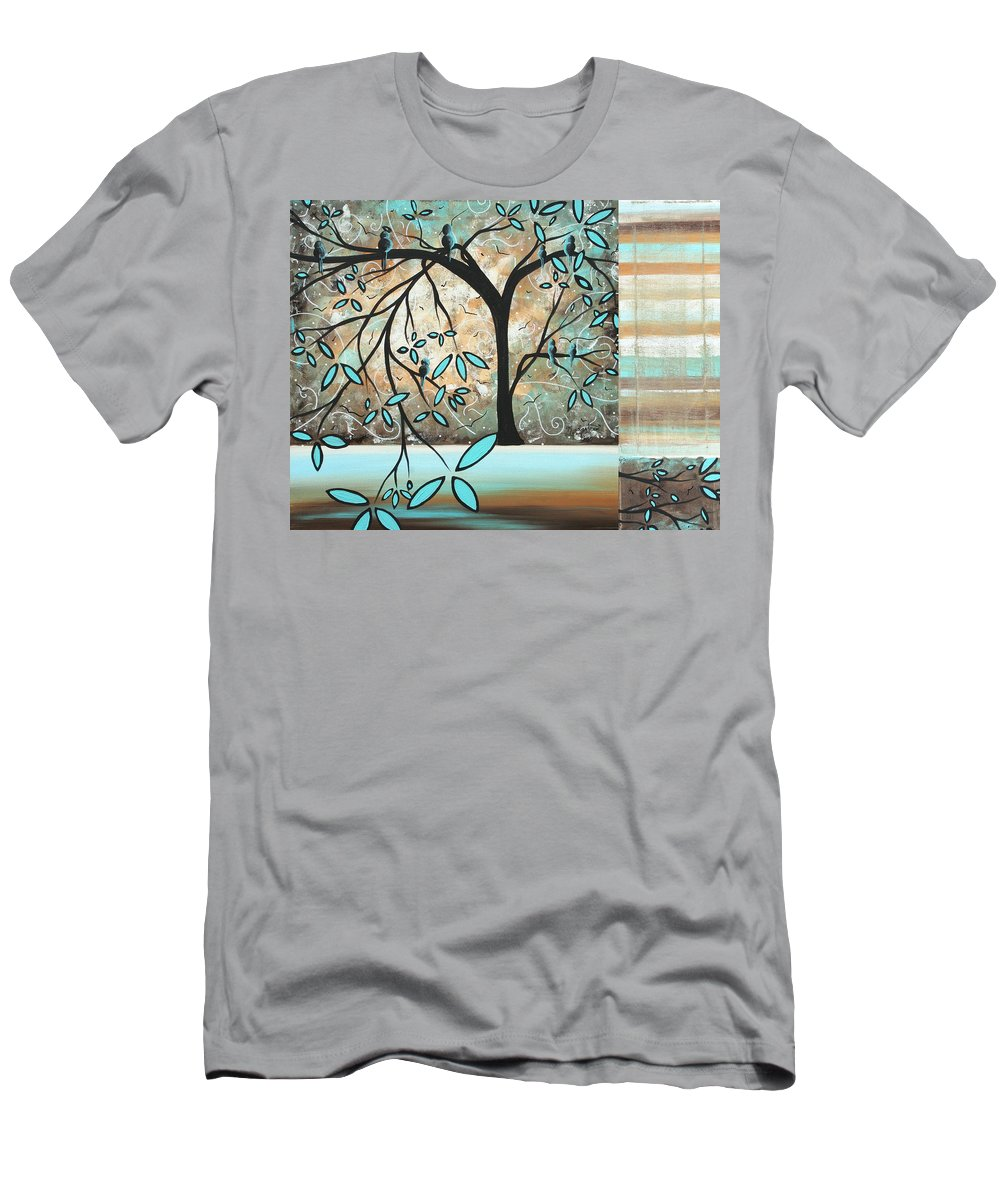 Wall Men's T-Shirt (Athletic Fit) featuring the painting Dream State By Madart by Megan Duncanson