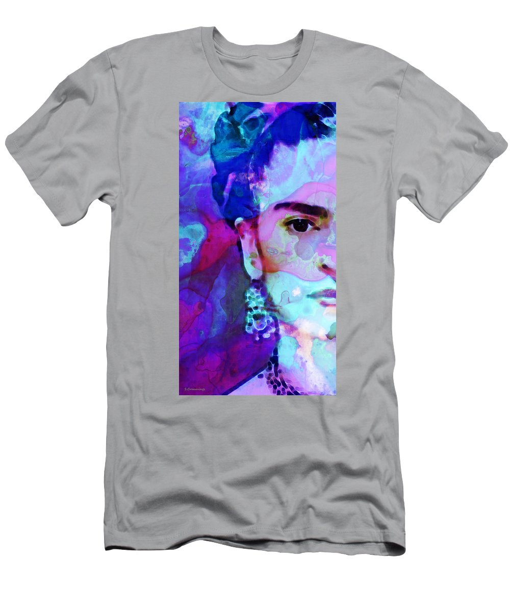 Frida Kahlo Men's T-Shirt (Athletic Fit) featuring the painting Dreaming Of Frida - Art By Sharon Cummings by Sharon Cummings