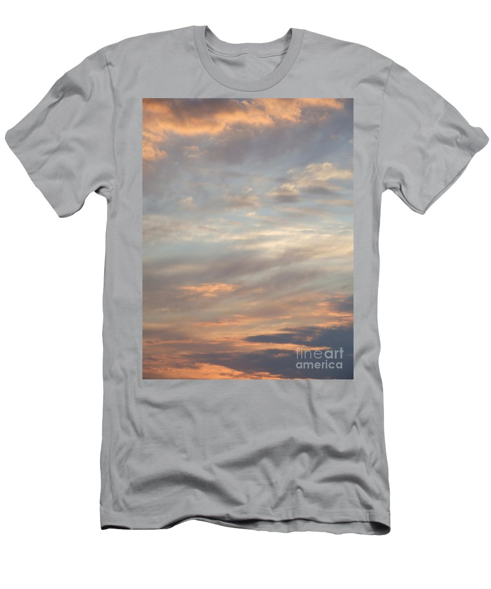 Dreamy Men's T-Shirt (Athletic Fit) featuring the photograph Dreamy Sunset Sky by Antony McAulay