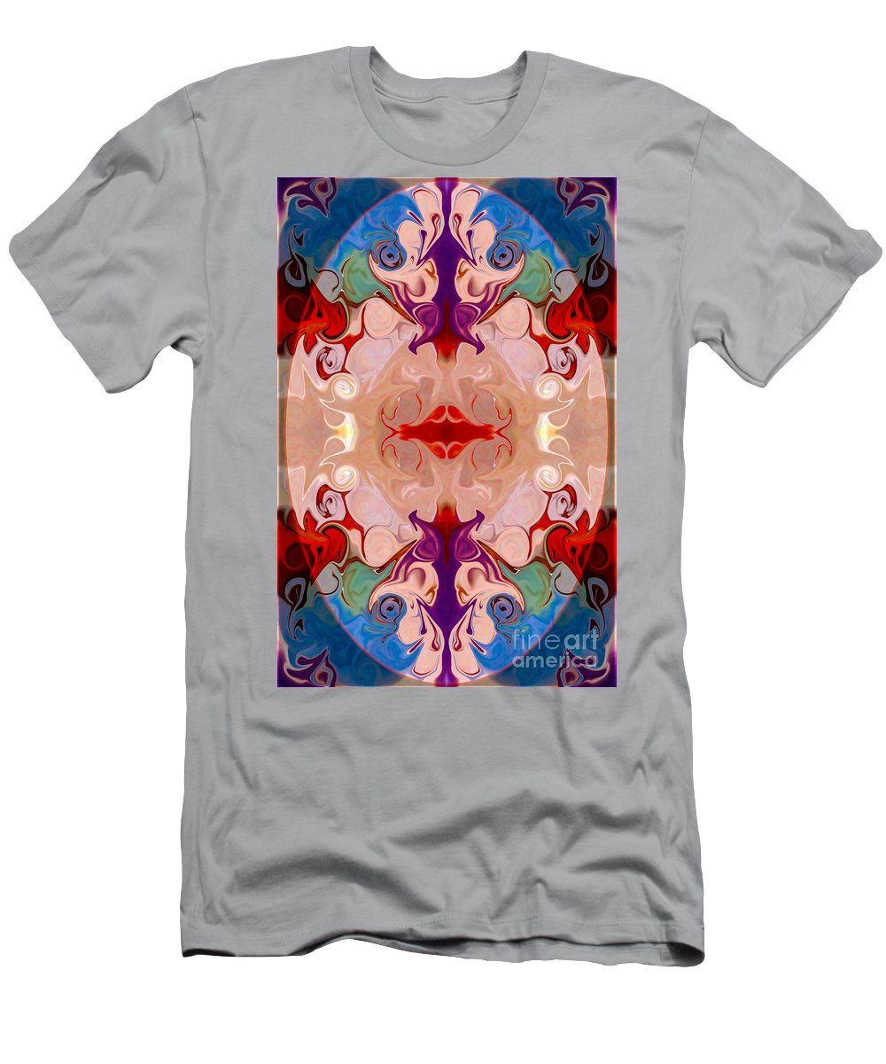 2x3 (4x6) Men's T-Shirt (Athletic Fit) featuring the digital art Drenched In Awareness Abstract Healing Artwork By Omaste Witkows by Omaste Witkowski