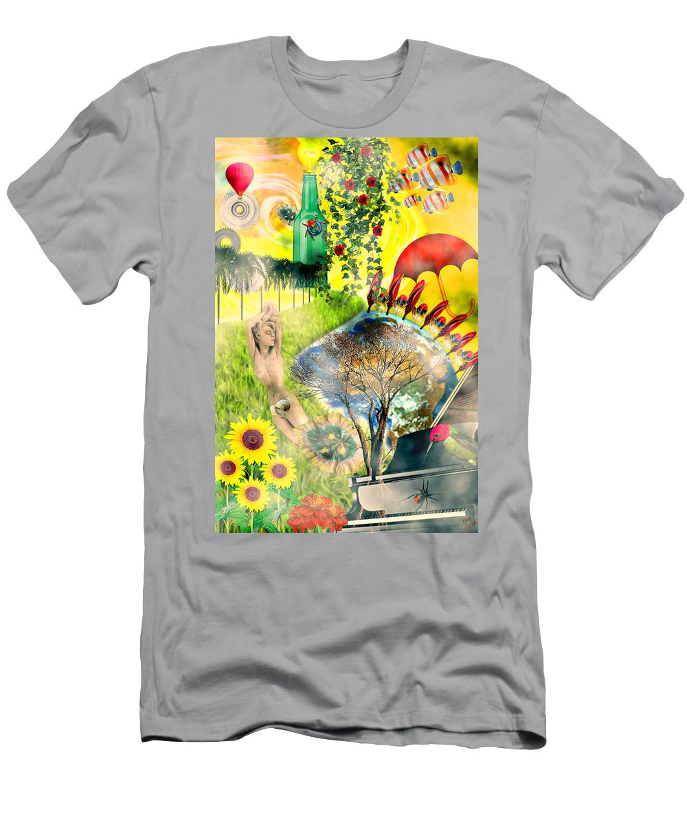 Surreal Men's T-Shirt (Athletic Fit) featuring the mixed media Drifting Away by Ally White