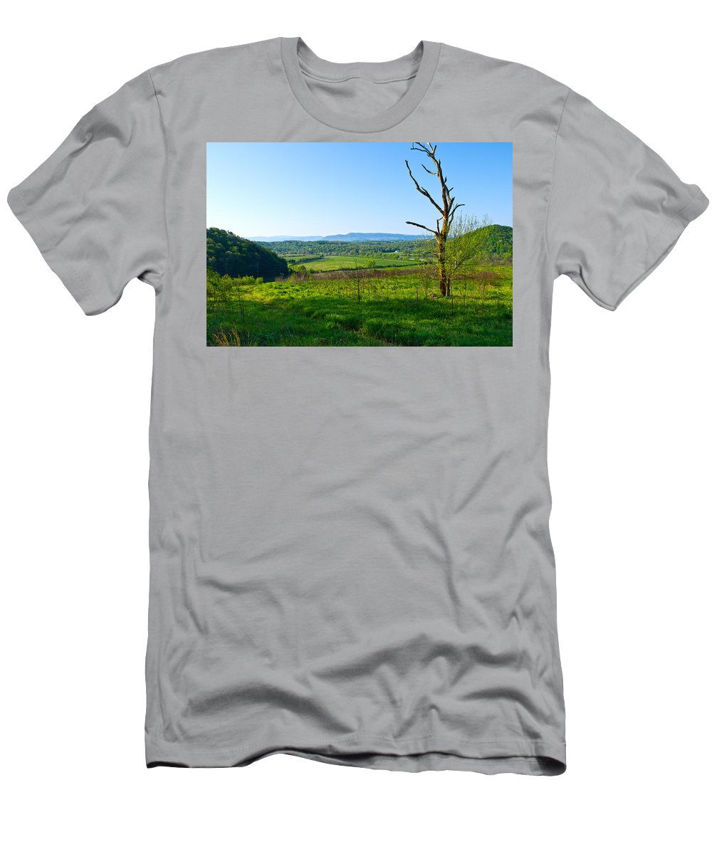 View Men's T-Shirt (Athletic Fit) featuring the photograph East Tennessee by Melinda Fawver