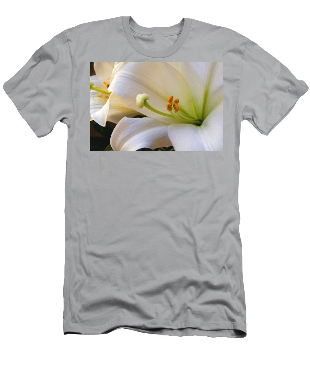 Easter Lilly Men's T-Shirt (Athletic Fit) featuring the photograph Easter Lily by Bonnie Willis