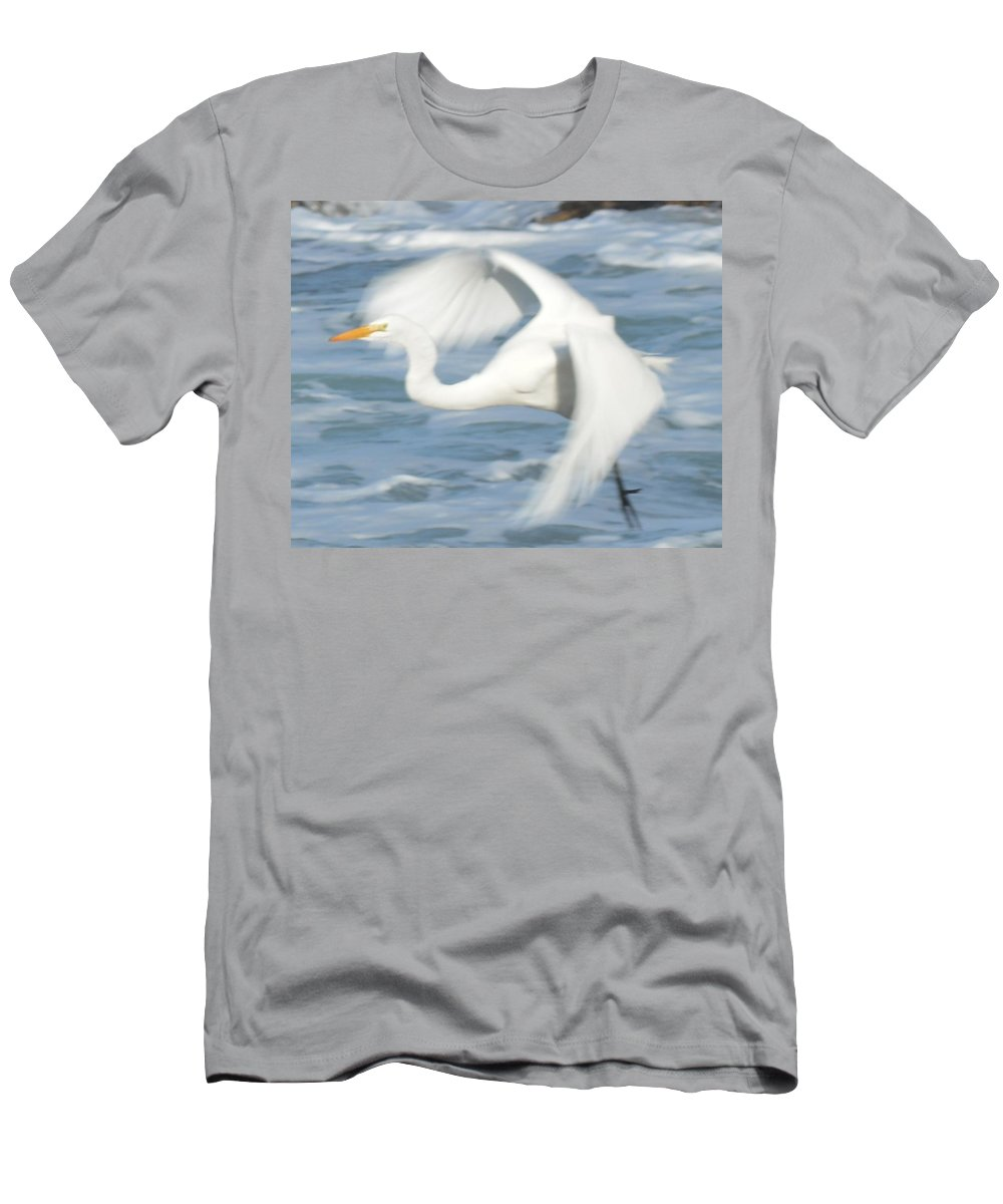 Barbara Snyder Men's T-Shirt (Athletic Fit) featuring the digital art Egert In Flight Detail by Barbara Snyder