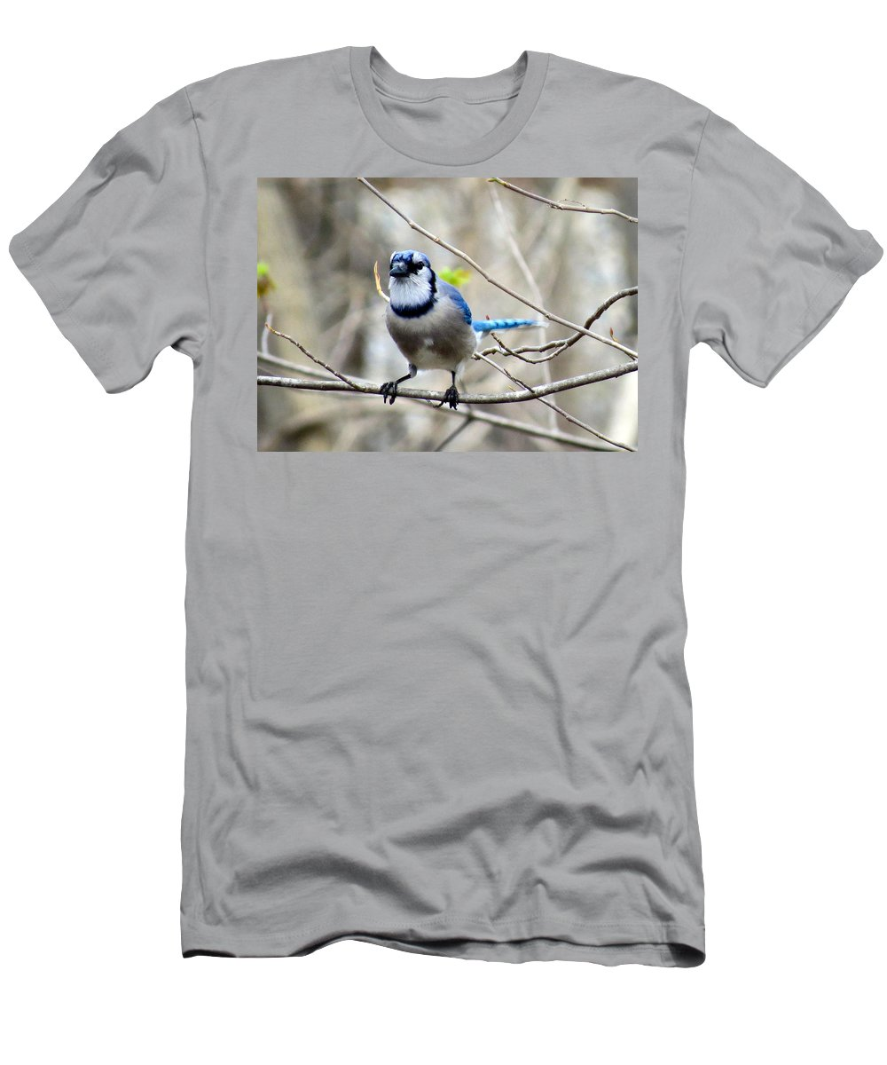 Bird Men's T-Shirt (Athletic Fit) featuring the photograph Egyptian Blue by Art Dingo