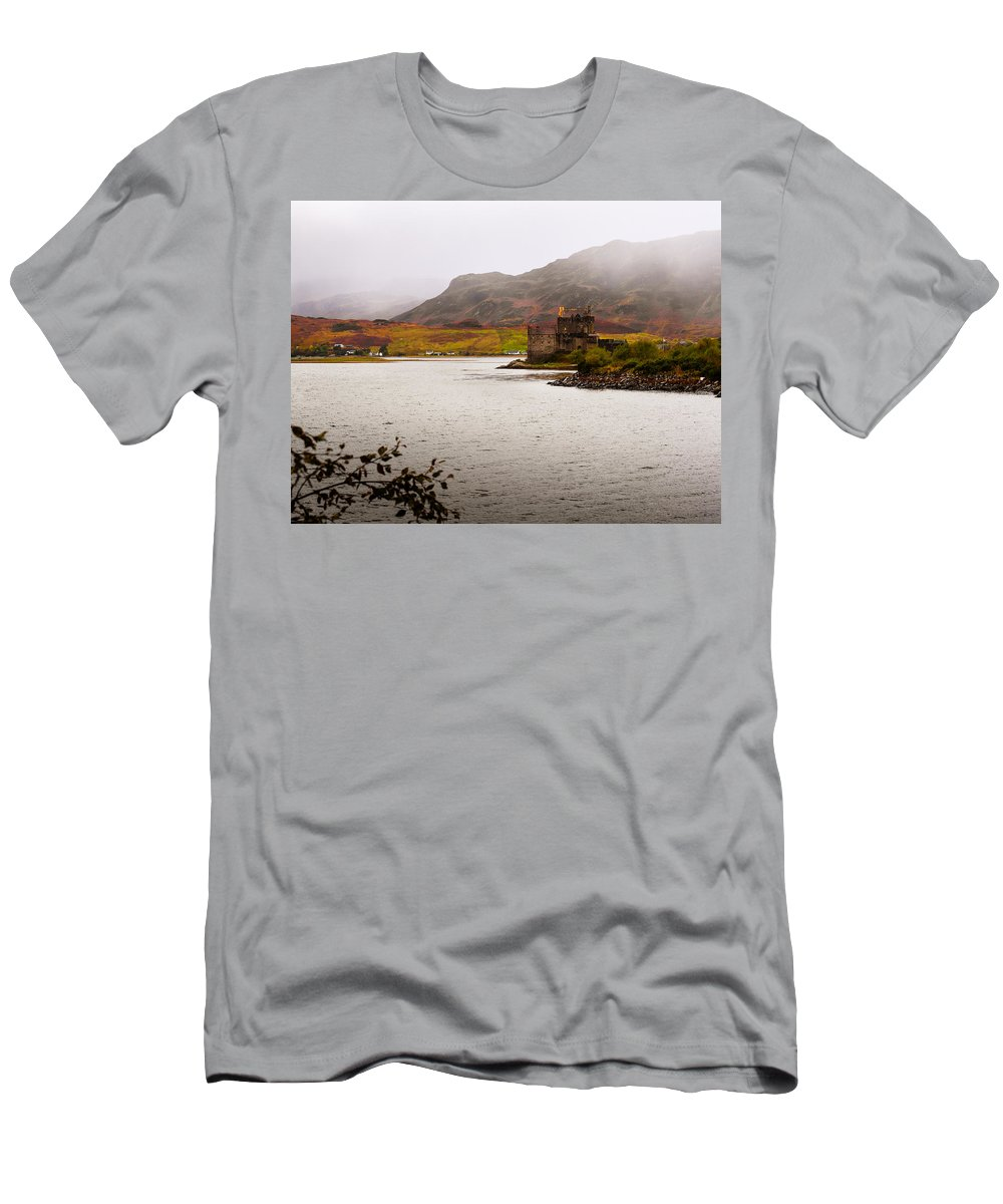 Scotland Men's T-Shirt (Athletic Fit) featuring the photograph Eilean Donan Castle by Mark Llewellyn