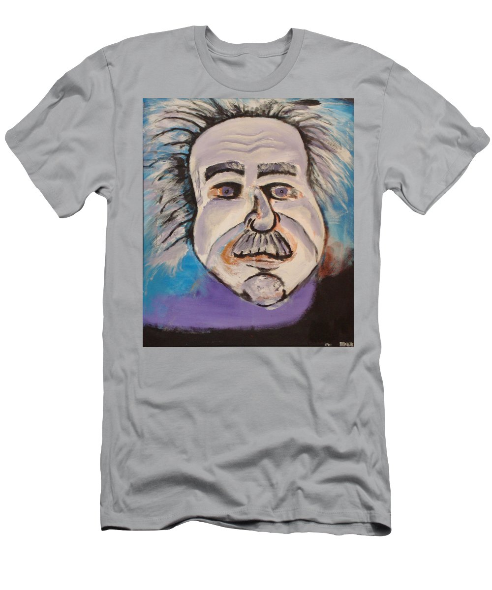 Rick Huotari Men's T-Shirt (Athletic Fit) featuring the painting Einstein by Rick Huotari