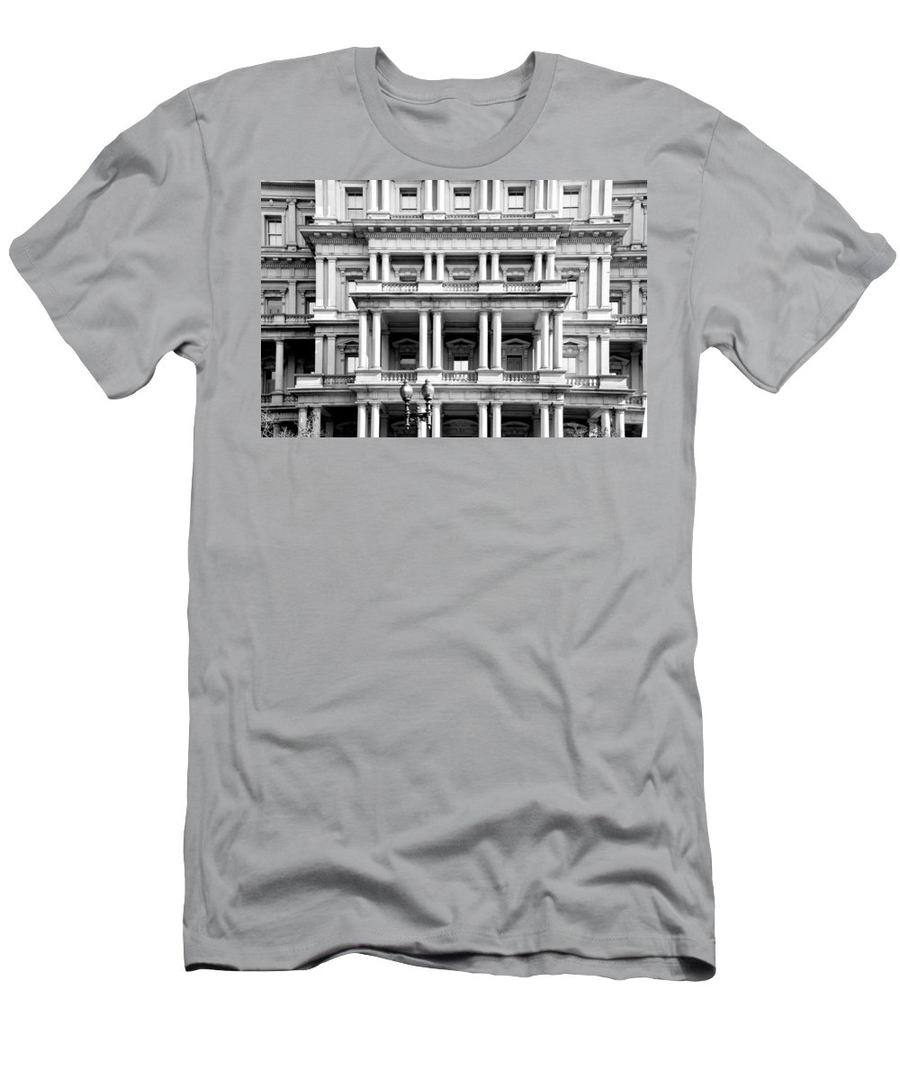 Arlington Cemetery Men's T-Shirt (Athletic Fit) featuring the photograph Eisenhower Executive Building by Greg Fortier