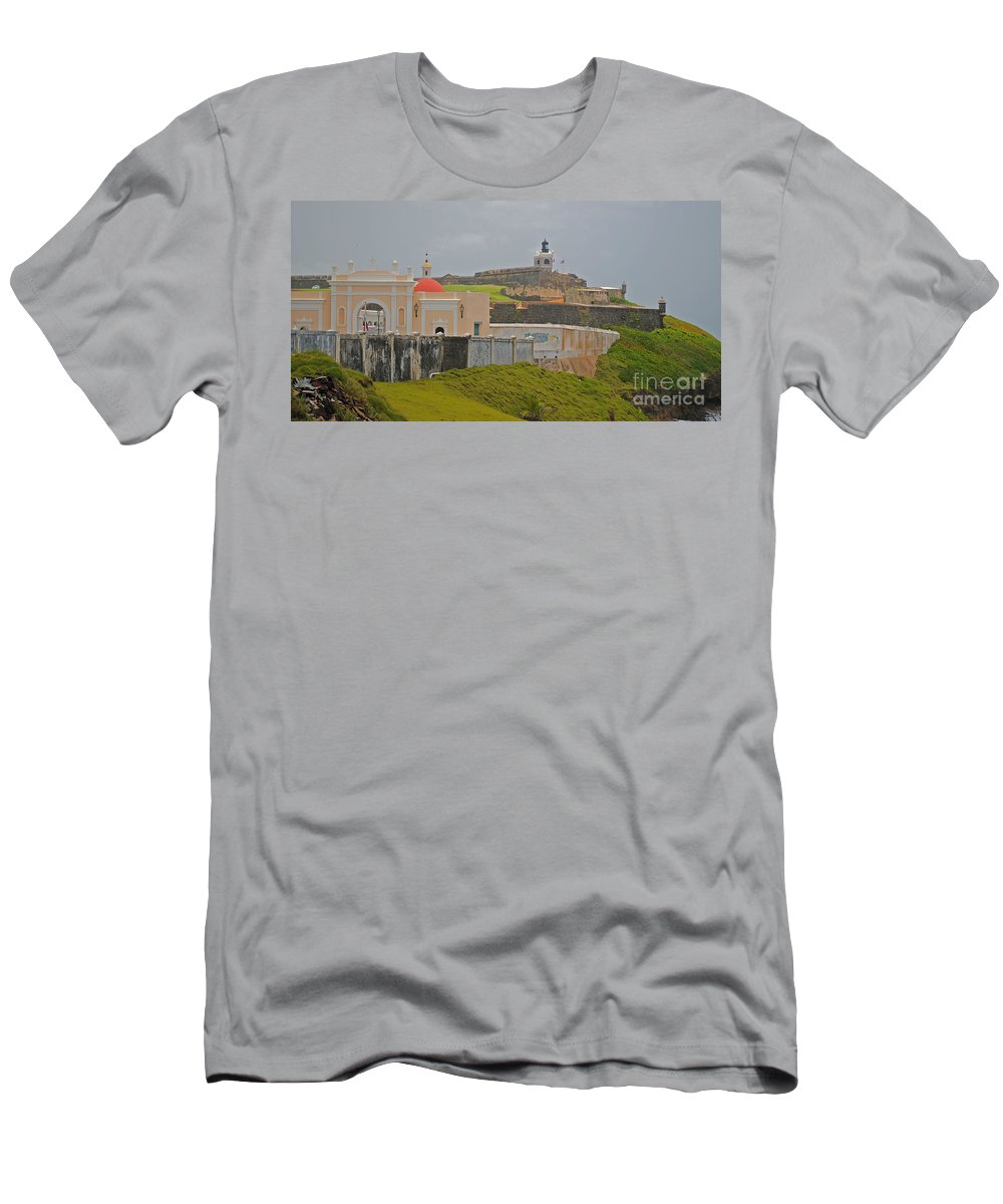 America Men's T-Shirt (Athletic Fit) featuring the photograph Scenic El Morro by George D Gordon III