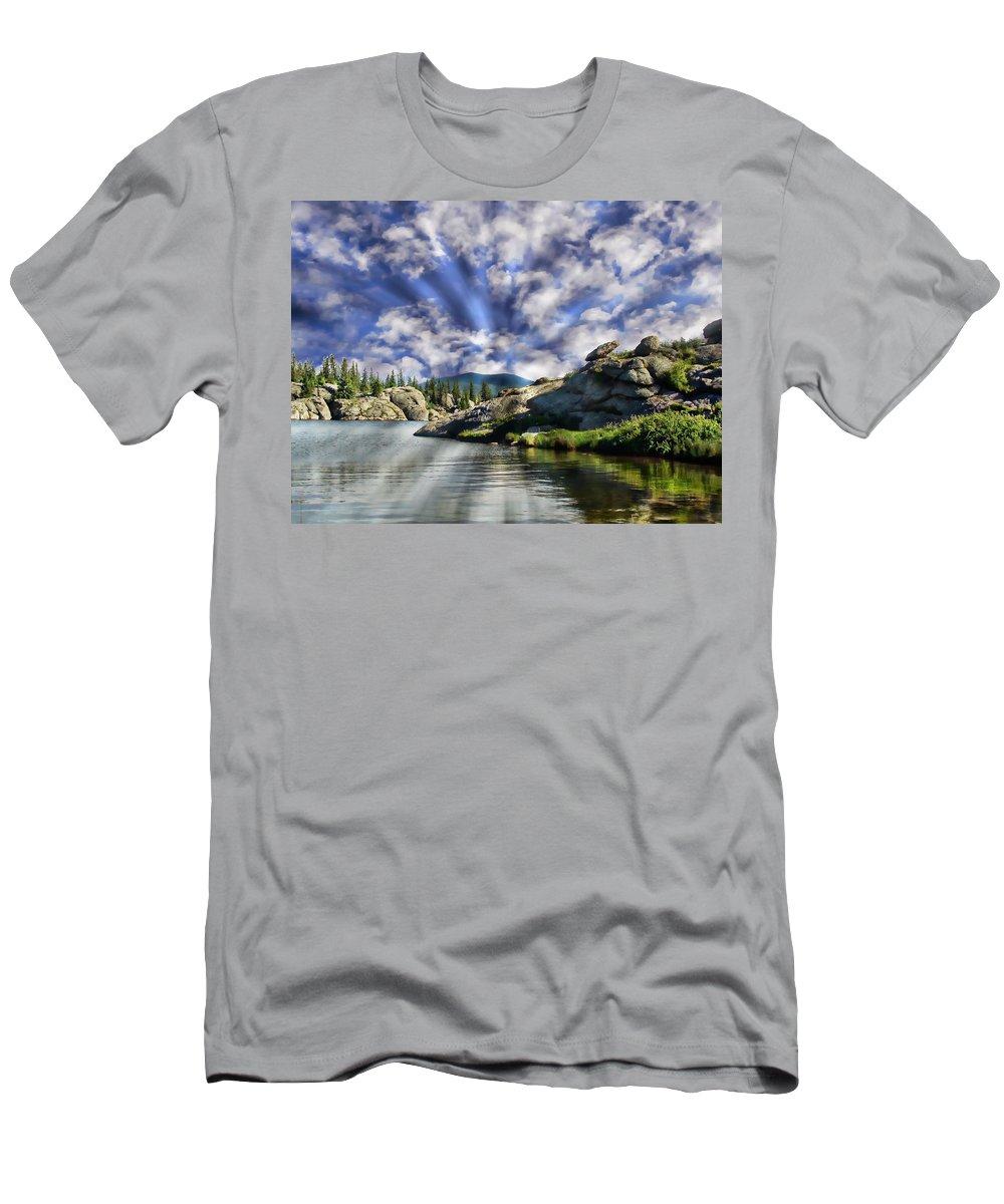 Forest Men's T-Shirt (Athletic Fit) featuring the photograph Colorado Landscape by Anthony Dezenzio