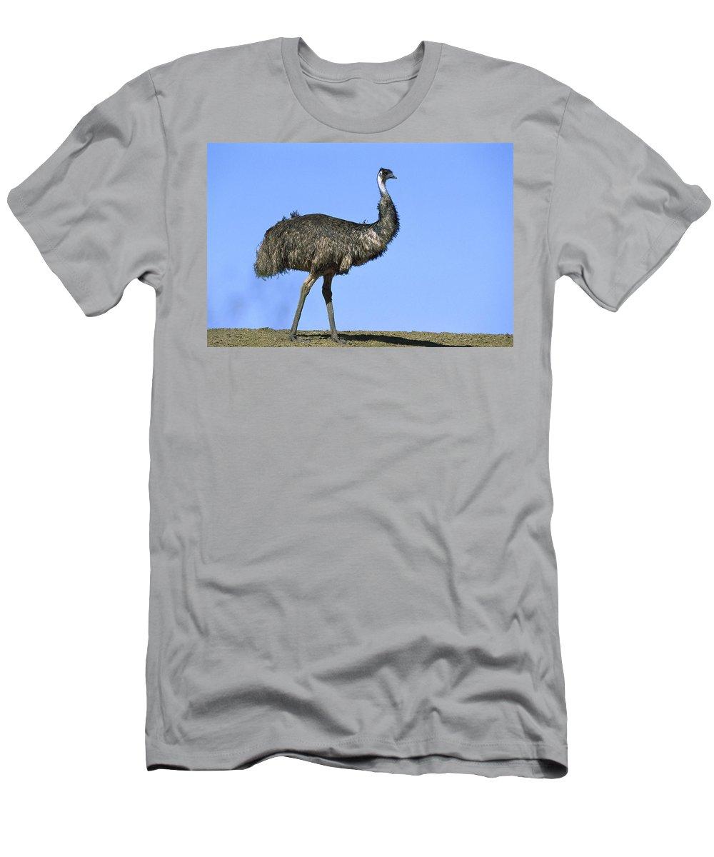 Feb0514 Men's T-Shirt (Athletic Fit) featuring the photograph Emu Portrait Sturt National Park by Konrad Wothe