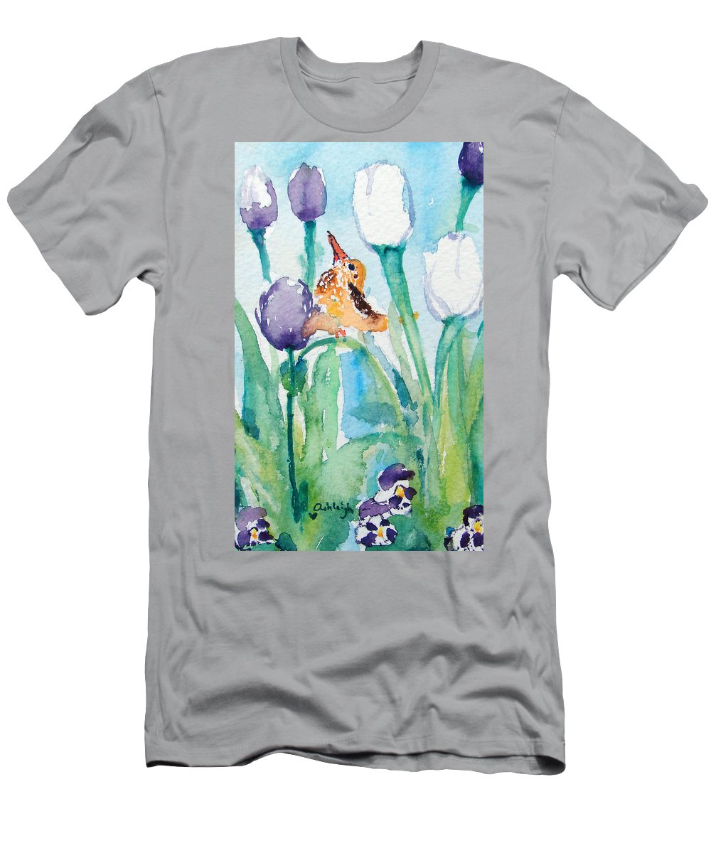 Flowers Men's T-Shirt (Athletic Fit) featuring the painting Enchanted With Divine Love by Ashleigh Dyan Bayer