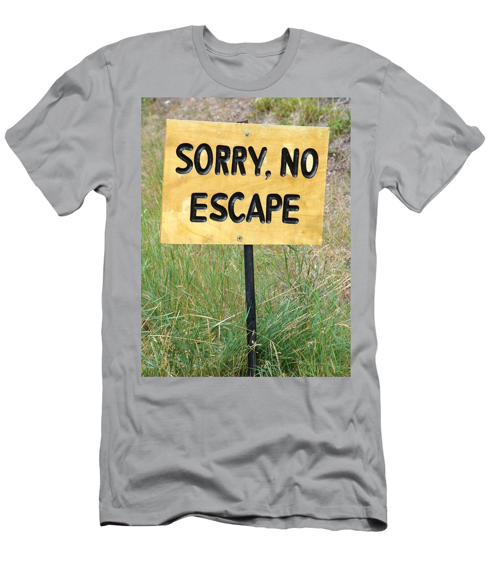 Men's T-Shirt (Athletic Fit) featuring the photograph End Of The Trail by Ian Mcadie