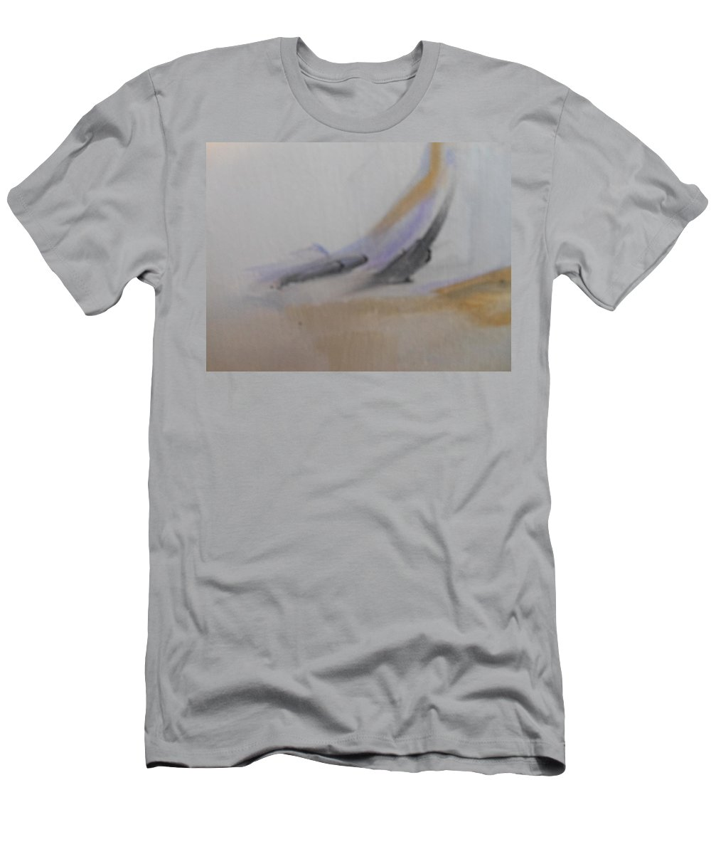 Abstract Men's T-Shirt (Athletic Fit) featuring the painting Ends by Lord Frederick Lyle Morris - Disabled Veteran