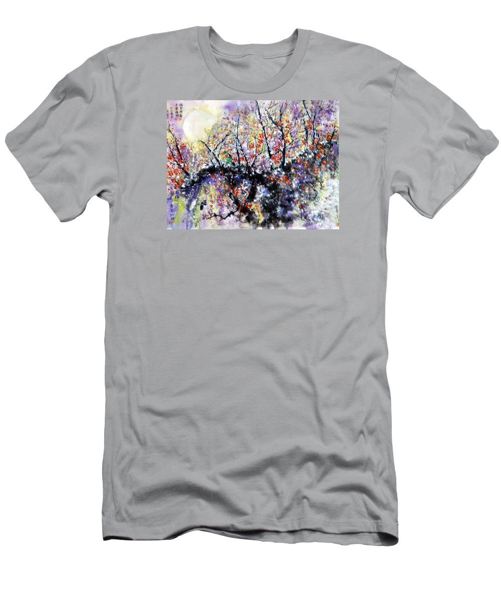 Chinese Painting Men's T-Shirt (Athletic Fit) featuring the painting Endurance And Unyielding Spirit by Gilbert Lam