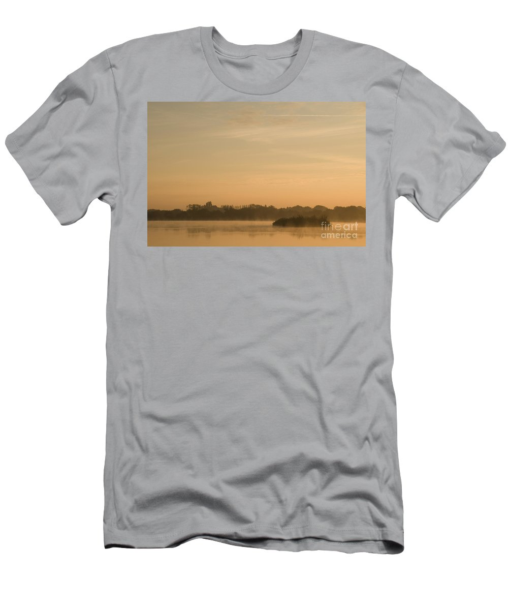 Atmospheric Men's T-Shirt (Athletic Fit) featuring the photograph Engine Pool Sunrise by Anne Gilbert