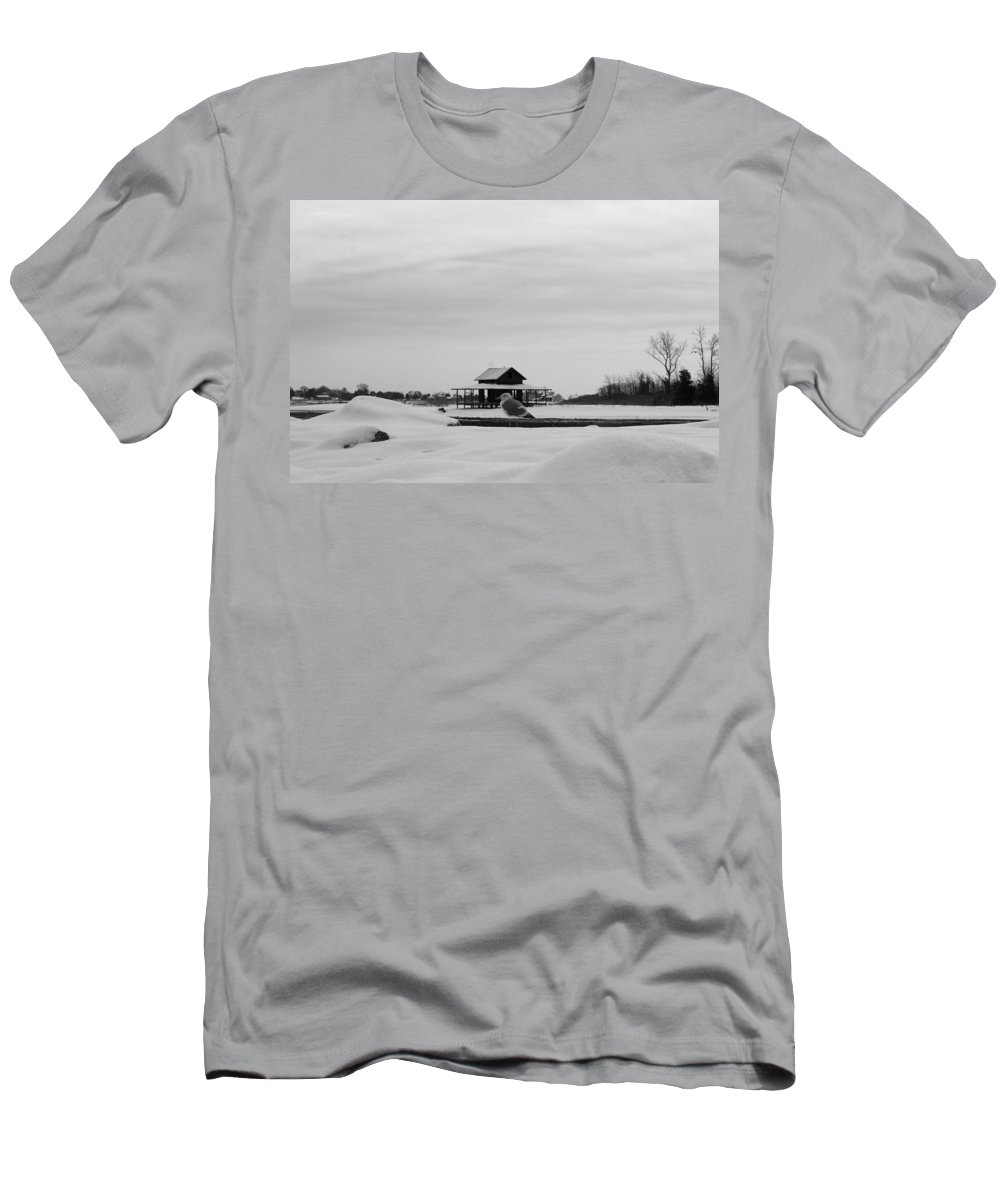 Guilford Men's T-Shirt (Athletic Fit) featuring the photograph Enjoying The Snow by Catie Canetti