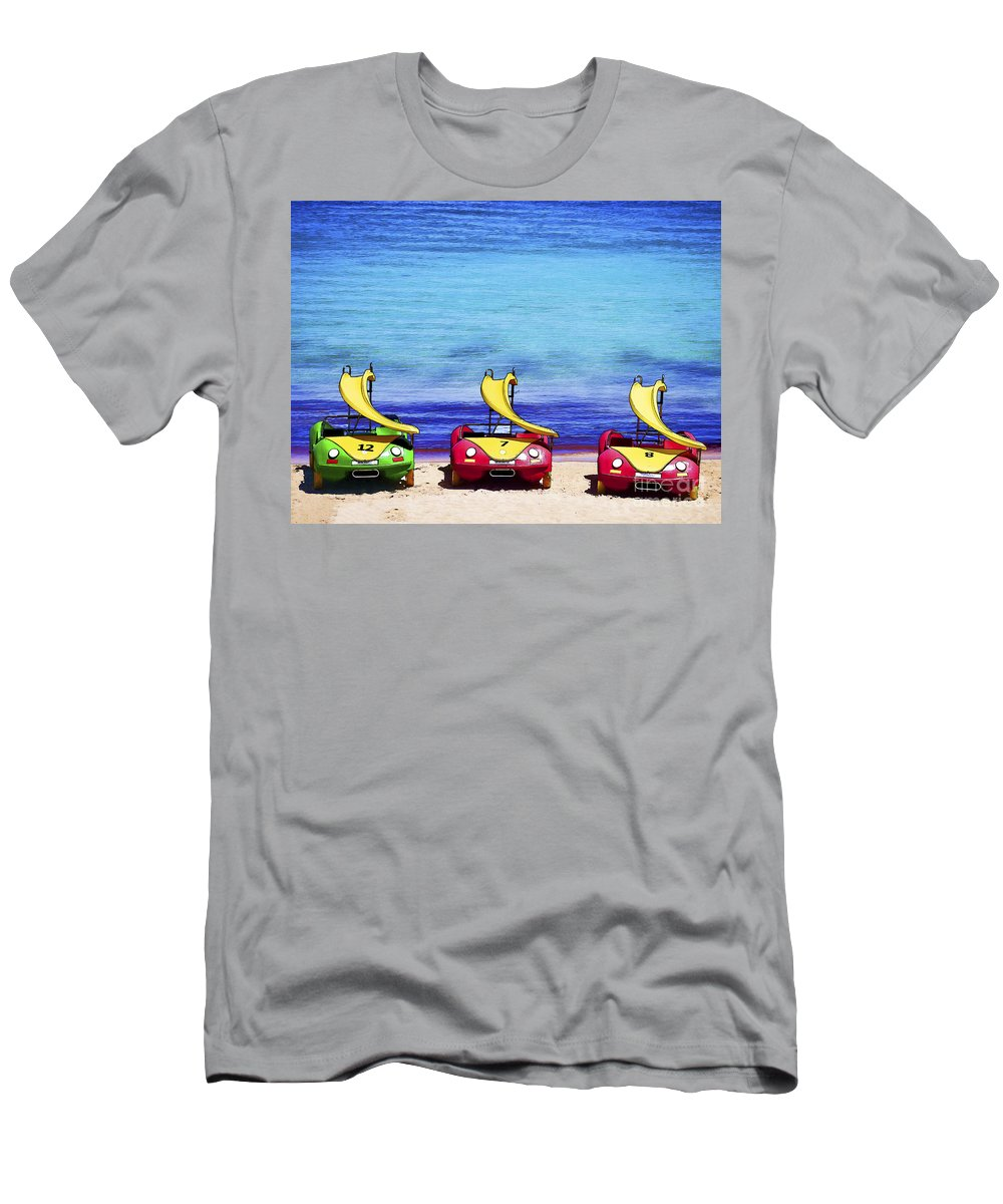 Pedalos Men's T-Shirt (Athletic Fit) featuring the photograph Three's Fun by Gillian Singleton