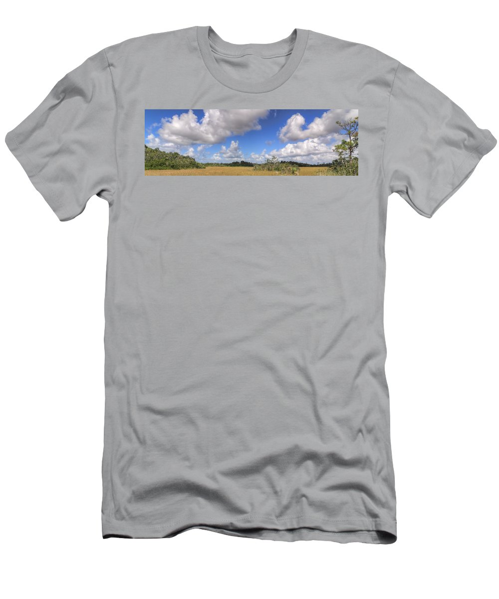 Beautiful Men's T-Shirt (Athletic Fit) featuring the photograph Everglades Landscape Panorama by Rudy Umans