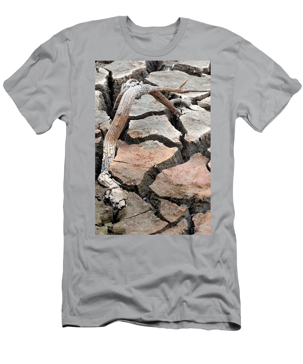 Dirt Men's T-Shirt (Athletic Fit) featuring the photograph Evidence Of Wood by Teri Schuster