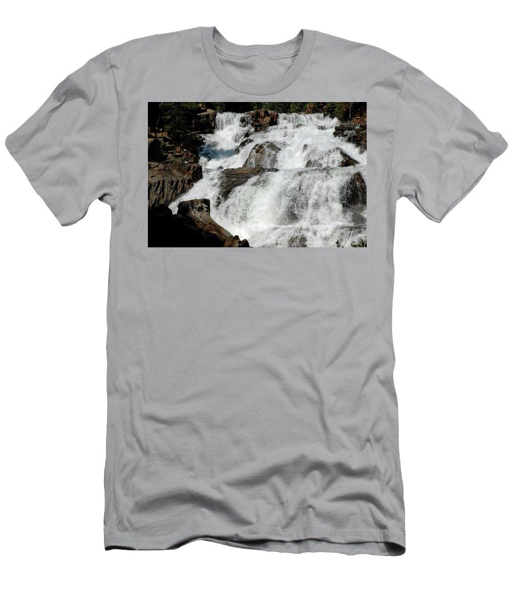 Usa Men's T-Shirt (Athletic Fit) featuring the photograph F Stop Glen Alpine Falls by LeeAnn McLaneGoetz McLaneGoetzStudioLLCcom