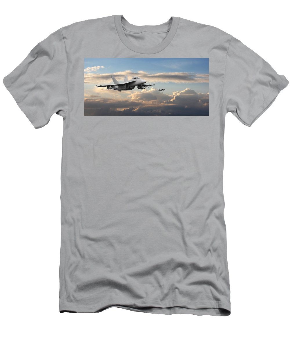 Aircraft Men's T-Shirt (Athletic Fit) featuring the photograph F18 - Super Hornet by Pat Speirs