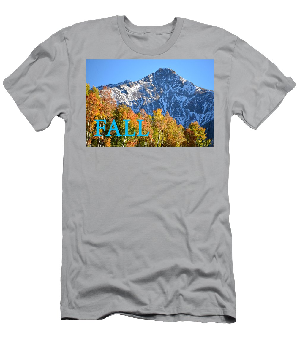 Fall Men's T-Shirt (Athletic Fit) featuring the photograph Fall Colors Cover Work by David Lee Thompson
