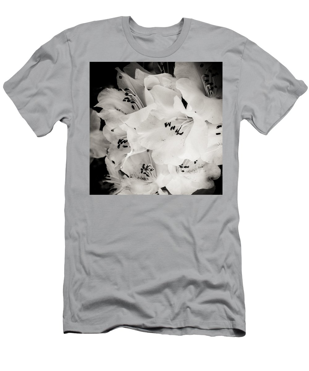 Rhododendren Men's T-Shirt (Athletic Fit) featuring the photograph Fall Of Flowers by Silken Photography