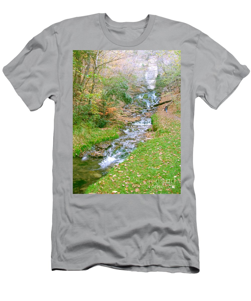 Springs Men's T-Shirt (Athletic Fit) featuring the photograph Fall Springs by Minding My Visions by Adri and Ray