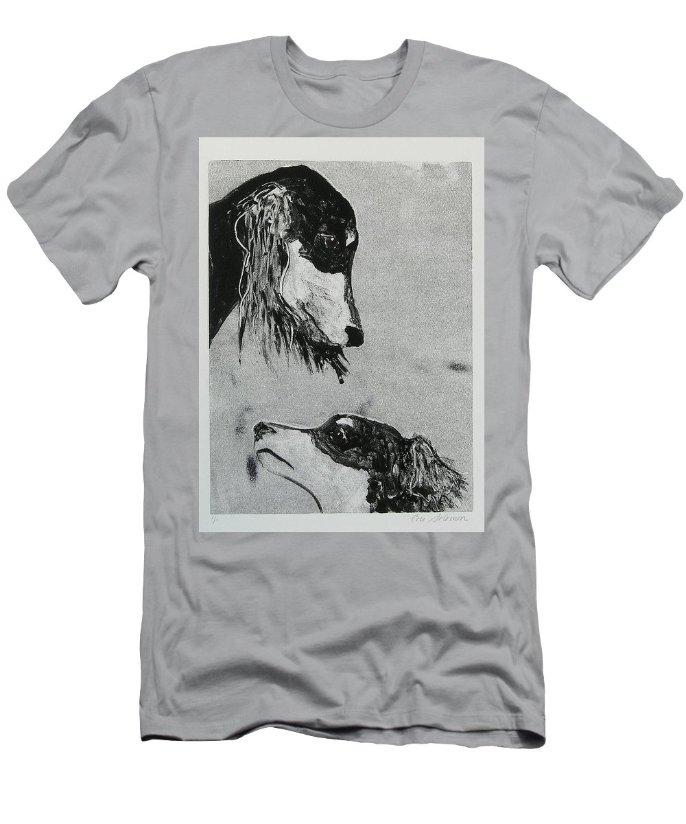 Saluki Men's T-Shirt (Athletic Fit) featuring the mixed media Family Affair by Cori Solomon