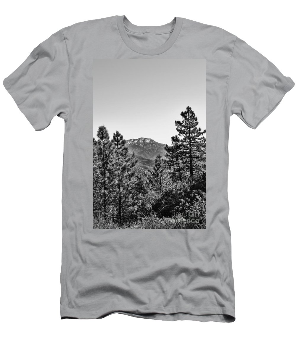 Big Bear Mountain Men's T-Shirt (Athletic Fit) featuring the photograph Far Side Of The Mountain by Tommy Anderson