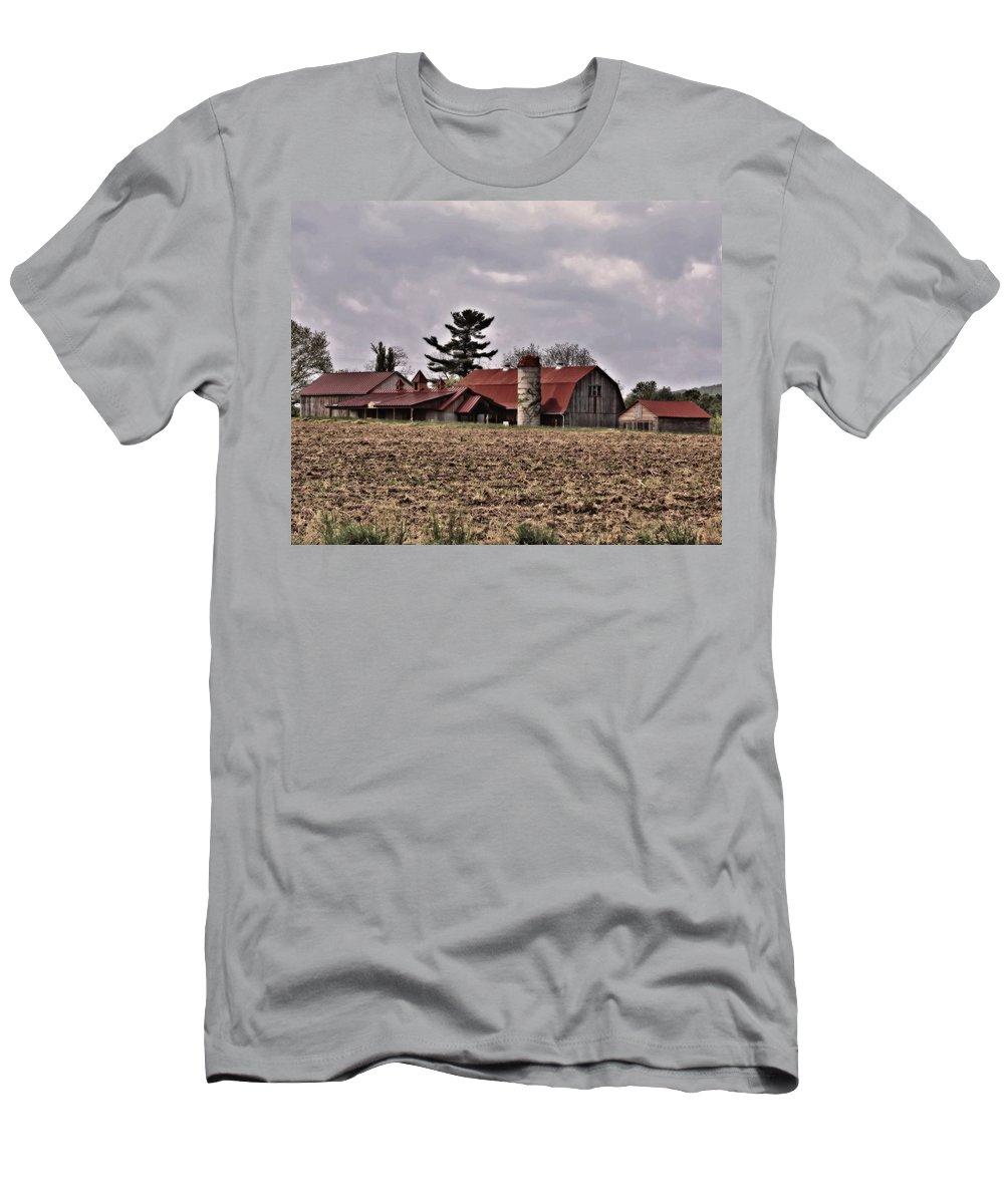 Farm Men's T-Shirt (Athletic Fit) featuring the photograph Farm 2 by John Feiser