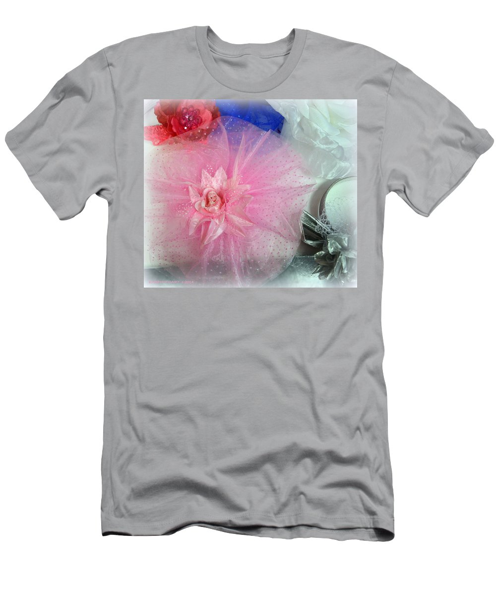 Hat Men's T-Shirt (Athletic Fit) featuring the photograph Fascinator Hats by Kathy Barney