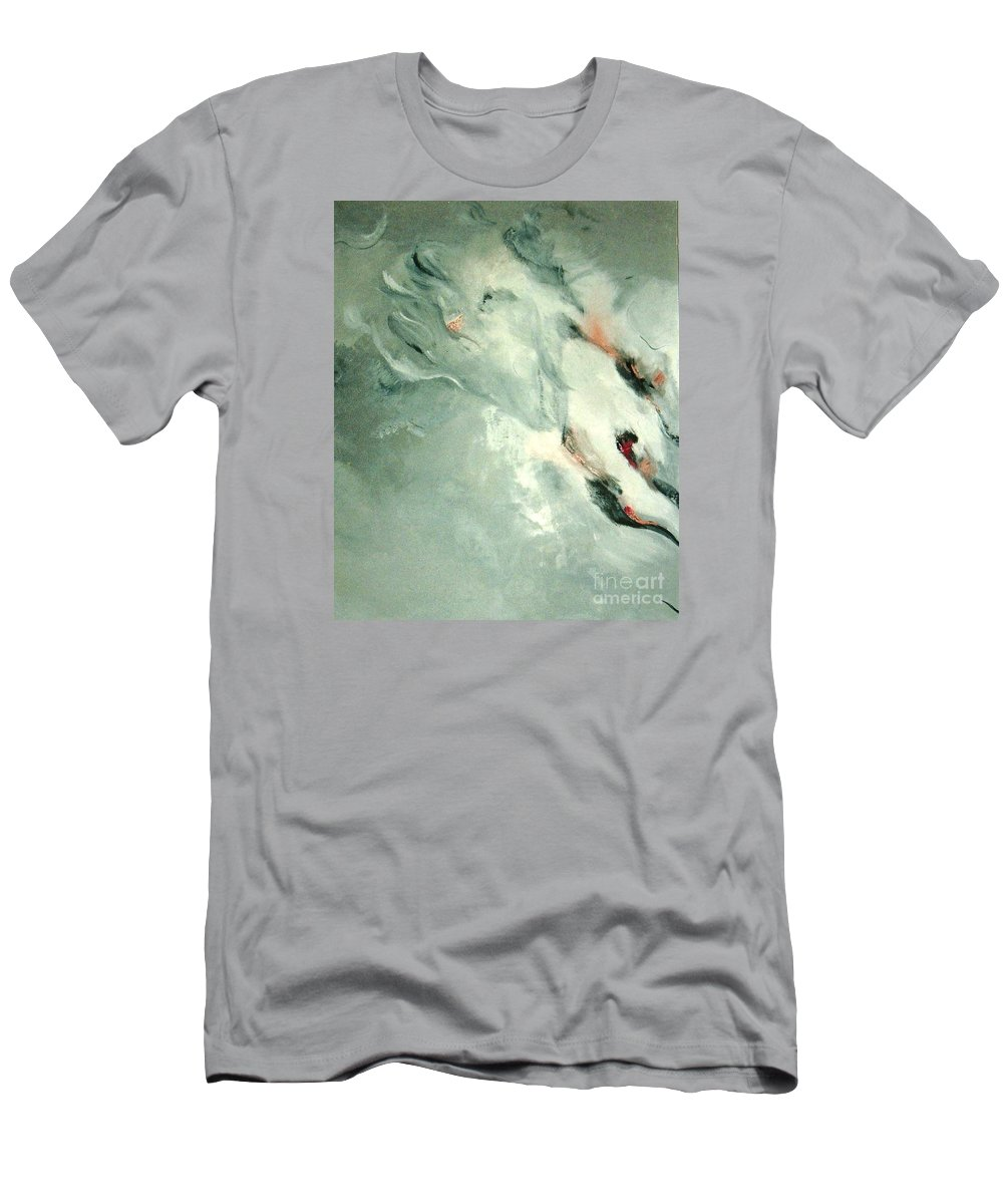 Abstract Men's T-Shirt (Athletic Fit) featuring the painting Father by Graciela Castro