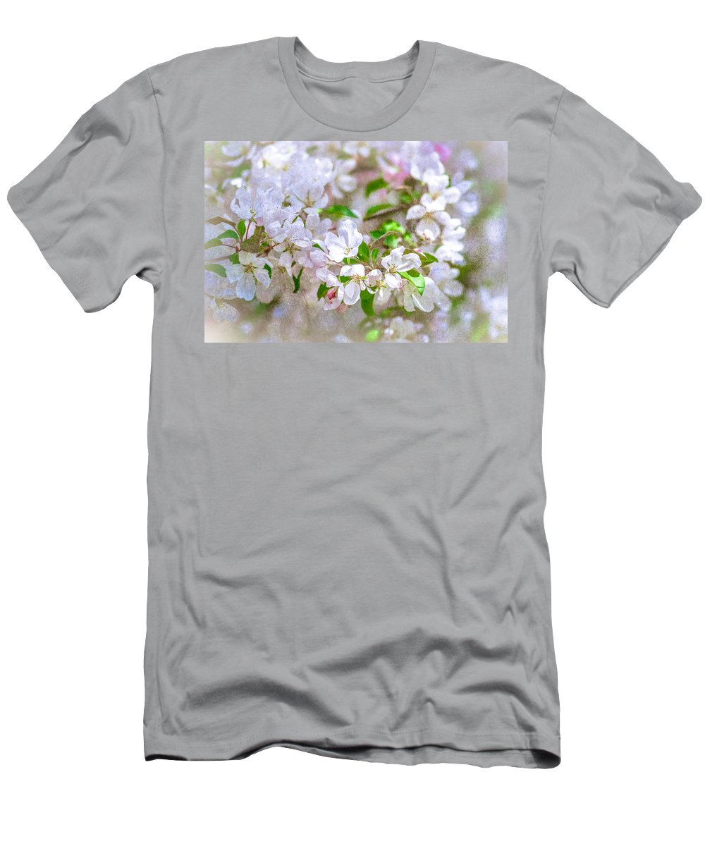 Flower Men's T-Shirt (Athletic Fit) featuring the photograph Feast Of Life 23 - Spring Wreath by Alexander Senin