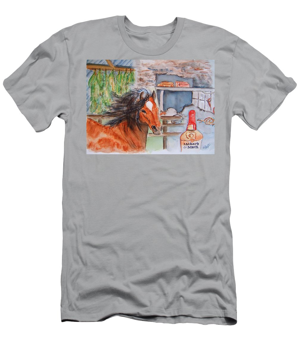 Kentucky Men's T-Shirt (Athletic Fit) featuring the painting Feeling Kentucky by Elaine Duras