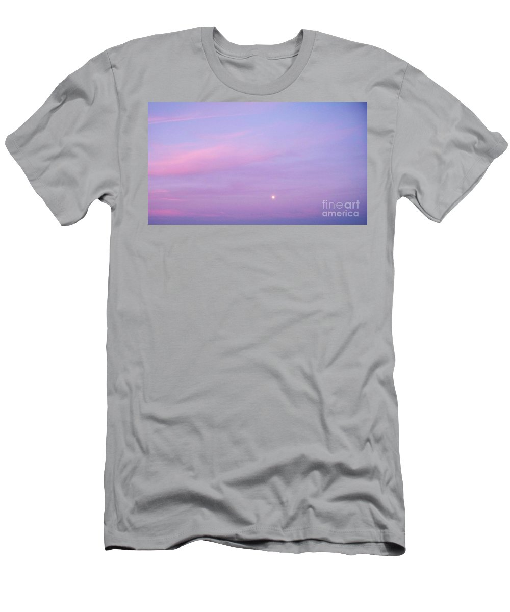 Fenwick Men's T-Shirt (Athletic Fit) featuring the photograph Fenwick Delaware Twilight Moon by Eric Schiabor