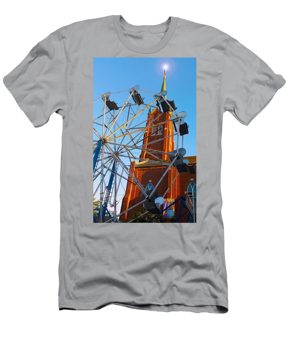Church Men's T-Shirt (Athletic Fit) featuring the photograph Ferris Wheel by Kimberlee Marvin