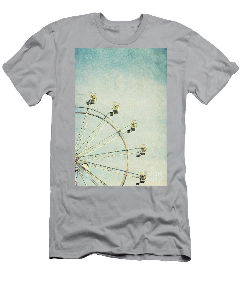 Park Men's T-Shirt (Athletic Fit) featuring the photograph Ferris Wheel by Margie Hurwich