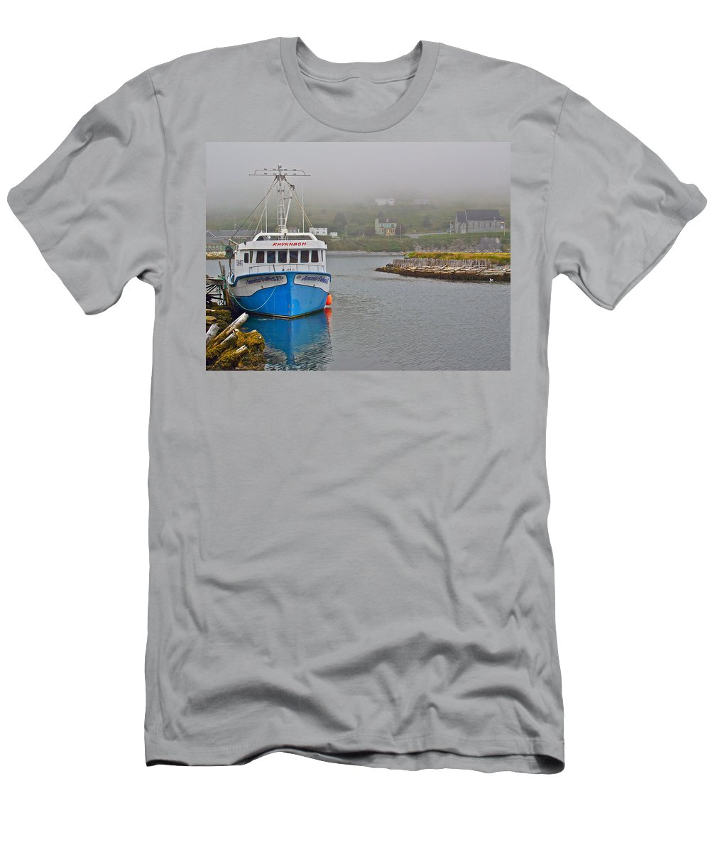 Ferryland Harbour Men's T-Shirt (Athletic Fit) featuring the photograph Ferryland Harbour-nl by Ruth Hager