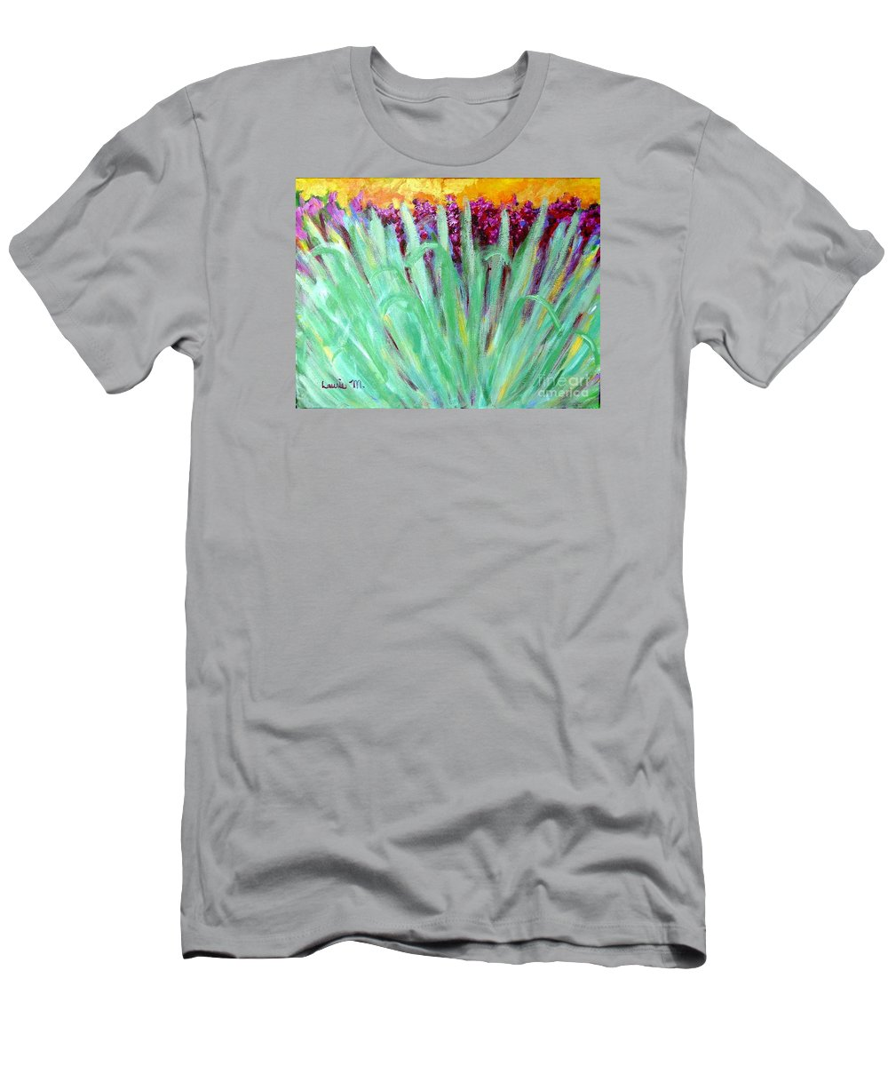 Abstract Men's T-Shirt (Athletic Fit) featuring the painting Festoon by Laurie Morgan