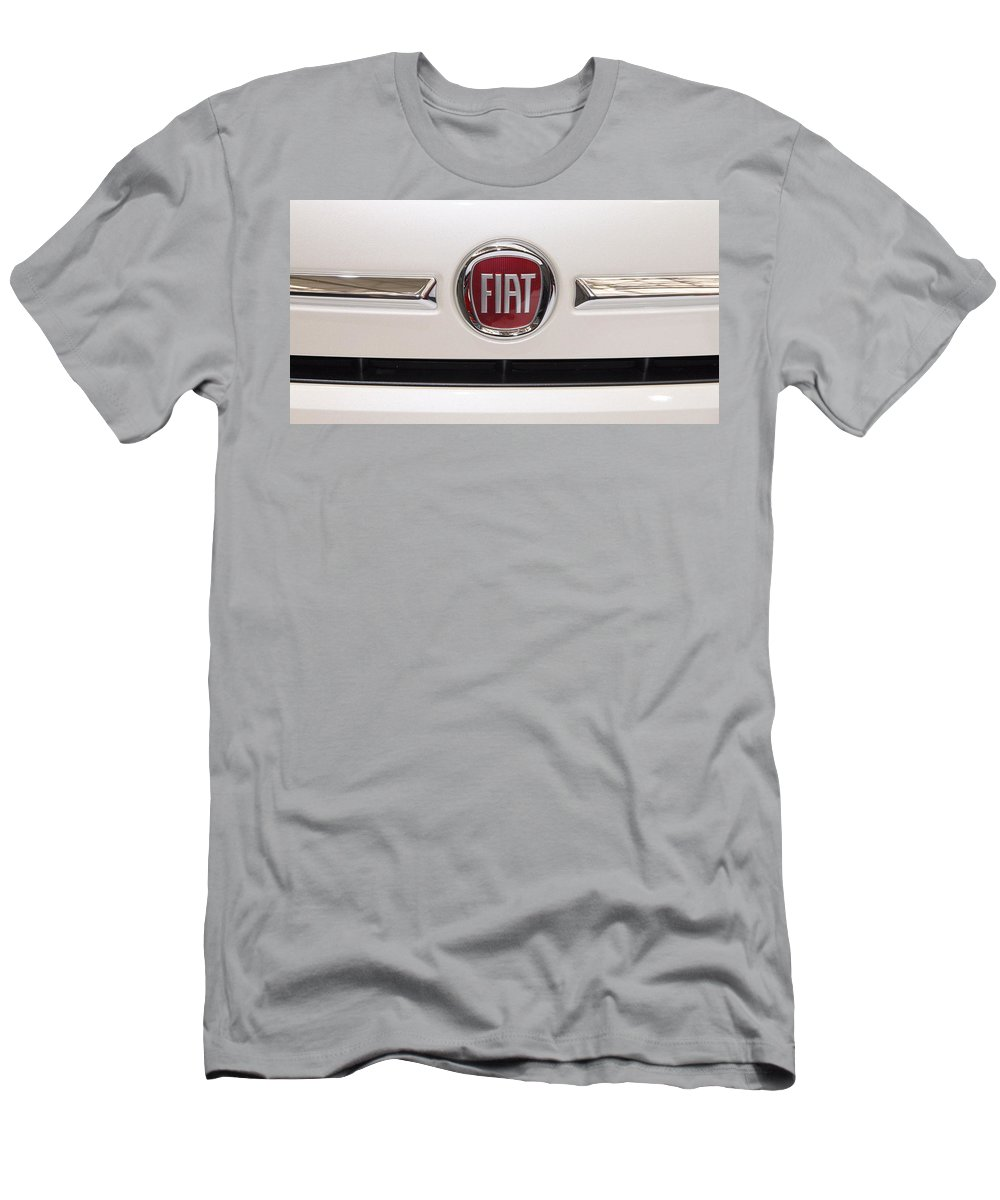 Fiat Men's T-Shirt (Athletic Fit) featuring the photograph Fiat Logo by Valentino Visentini