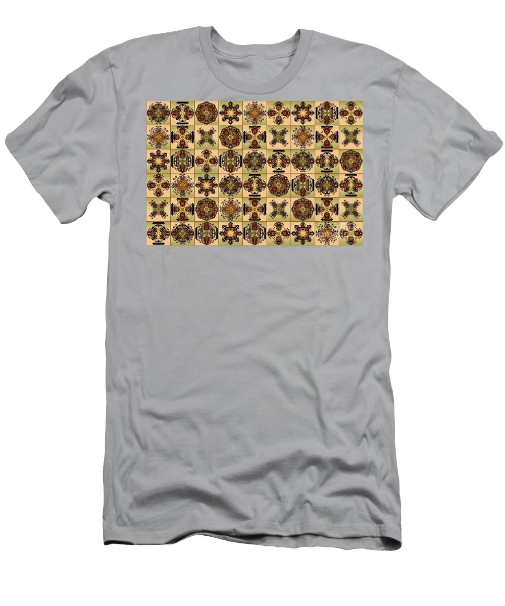 Flowers Men's T-Shirt (Athletic Fit) featuring the digital art Fifty Four Tiles by Paul Gentille