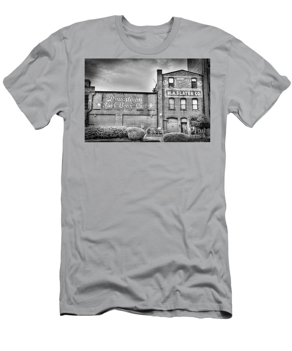 Durham Men's T-Shirt (Athletic Fit) featuring the photograph Find Your Coal In Black And White by Emily Kay