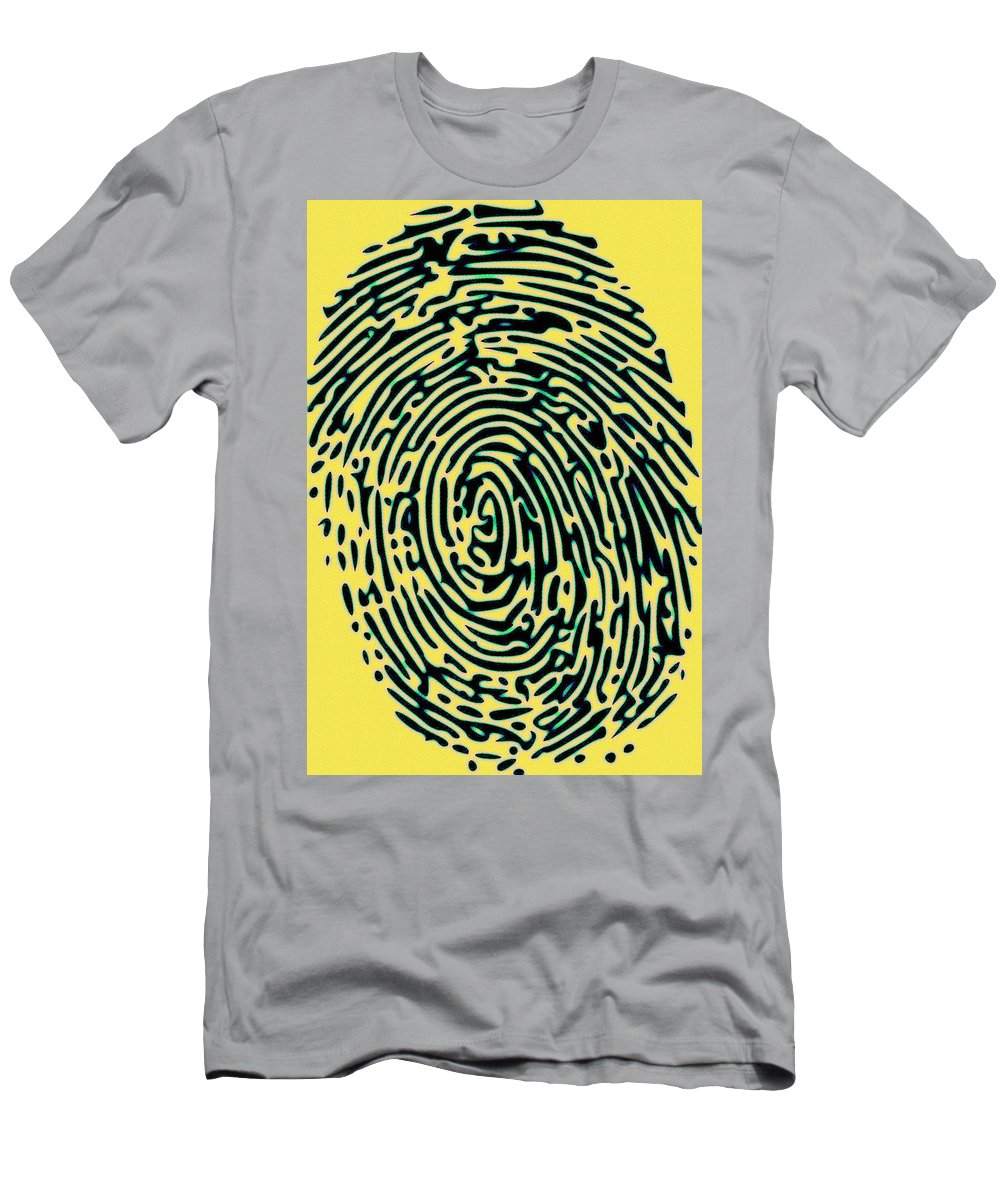 Finger Men's T-Shirt (Athletic Fit) featuring the painting Finger Tip Tale by Florian Rodarte