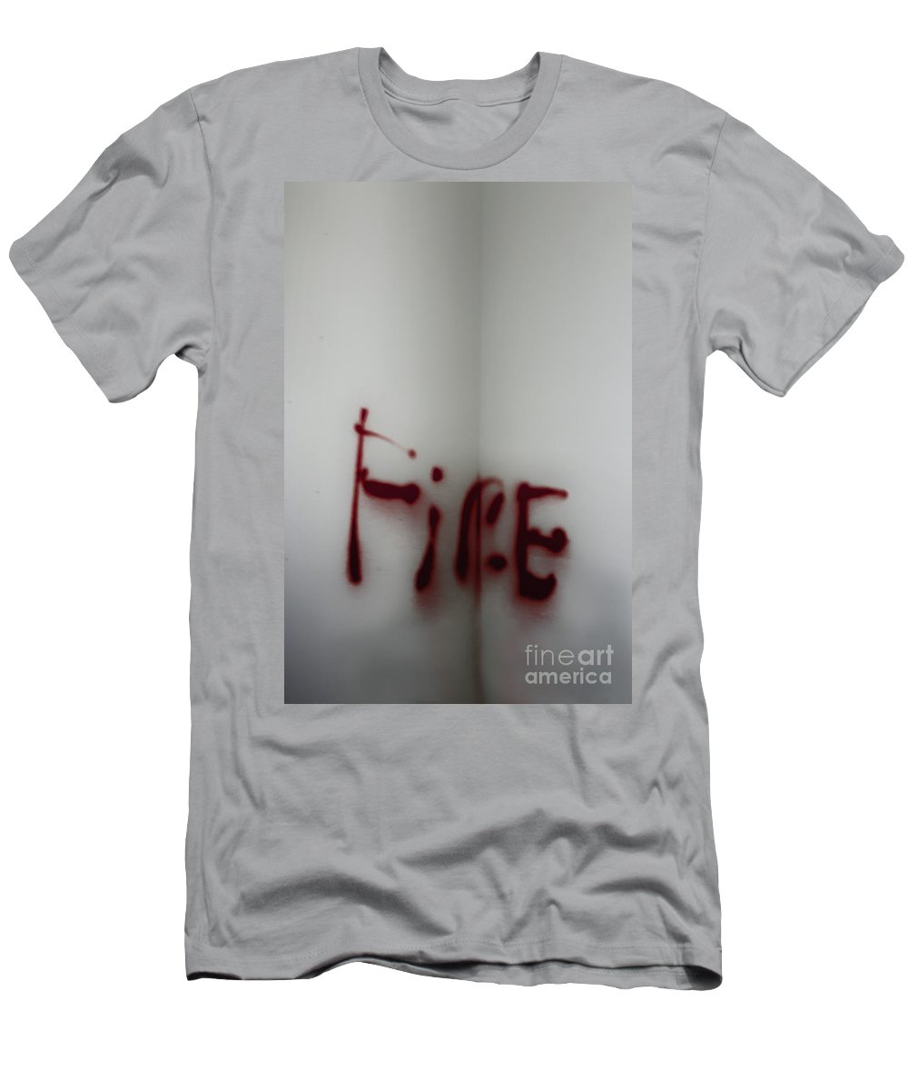 Red Men's T-Shirt (Athletic Fit) featuring the photograph Fire by Margie Hurwich