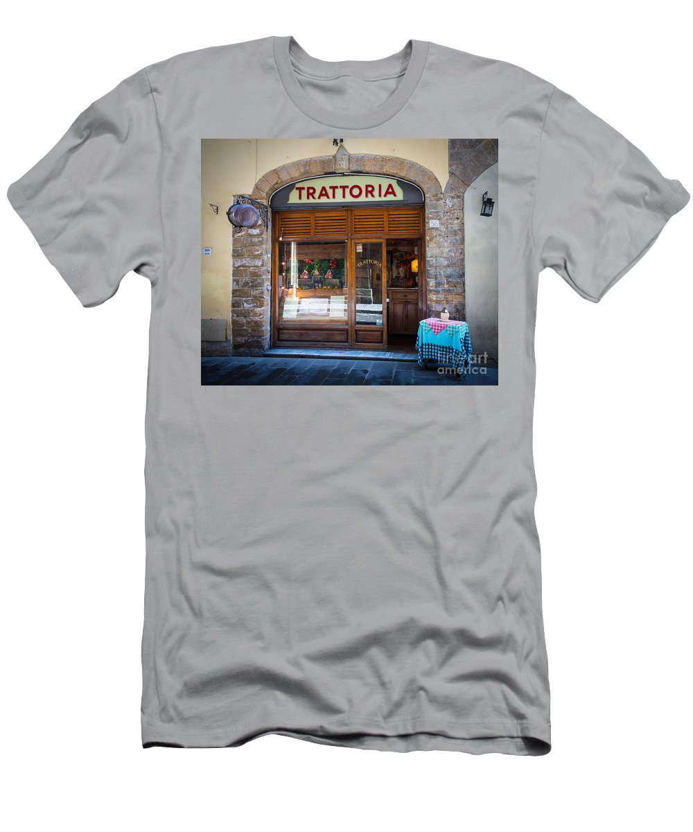 Europe Men's T-Shirt (Athletic Fit) featuring the photograph Firenze Trattoria by Inge Johnsson